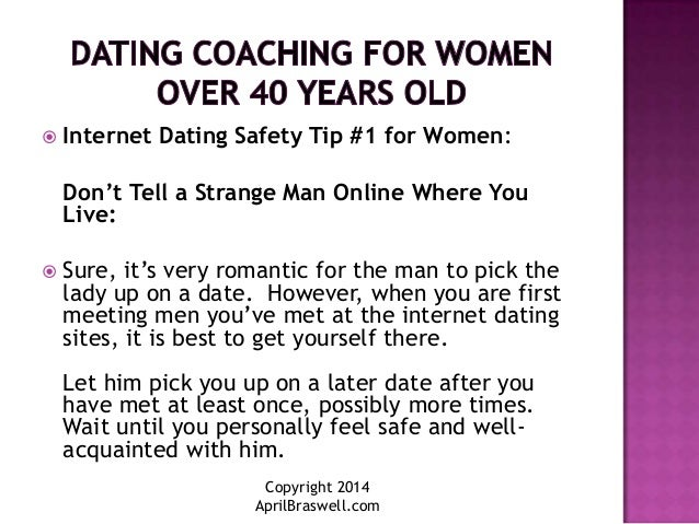 online dating advice for women over 40 women 2016