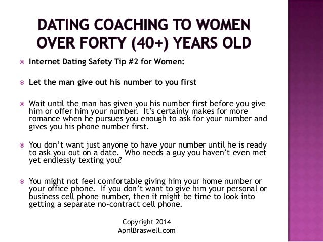 Five rules for dating over 40