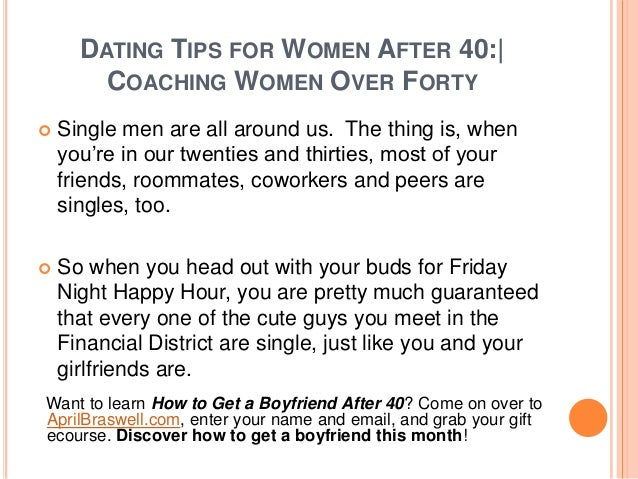 Dating after 50 tips