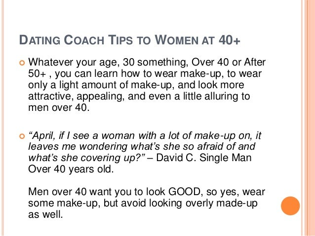 Dating tips for men over 40