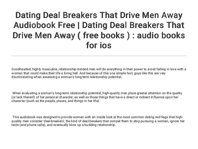 dating deal breakers for guys
