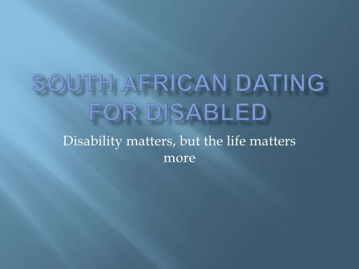 disabled dating south africa
