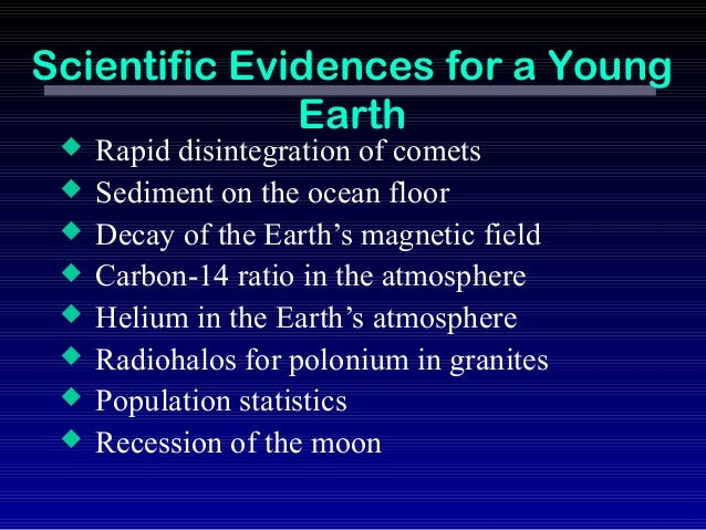Young earth dating methods.