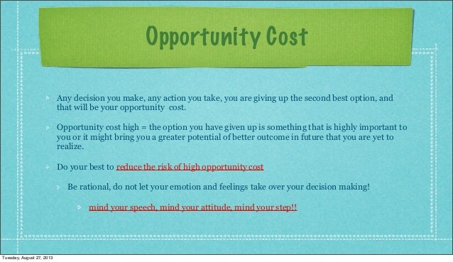 Dating opportunity cost