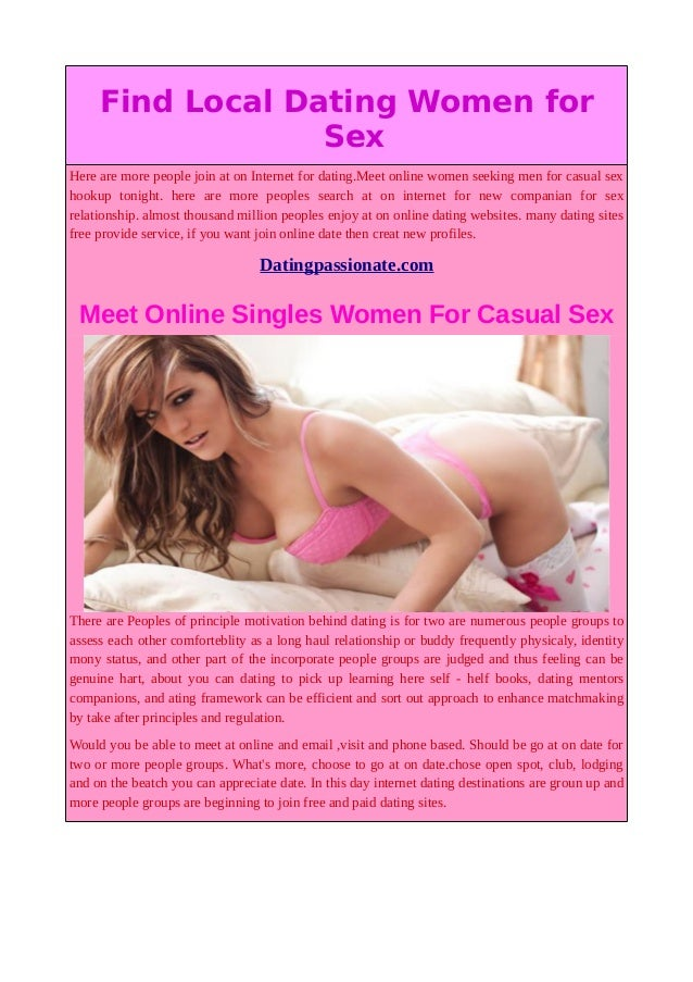 free casual sex dating sites