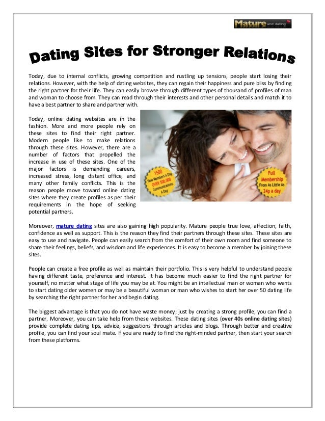 Dating websites for over 40s — photo 11