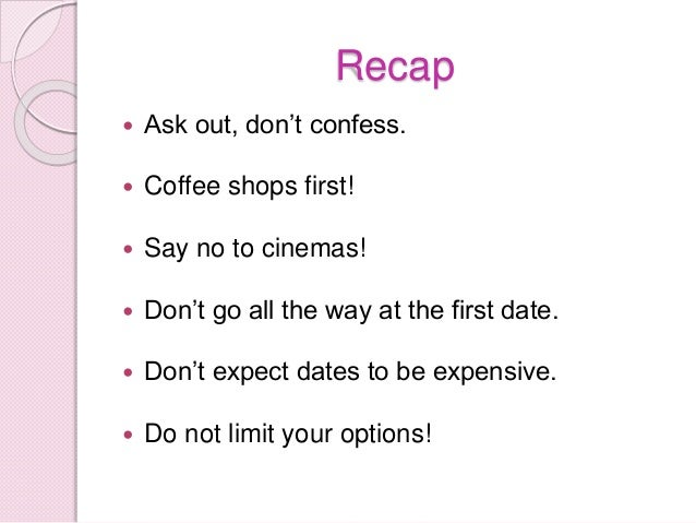 First month of dating rules
