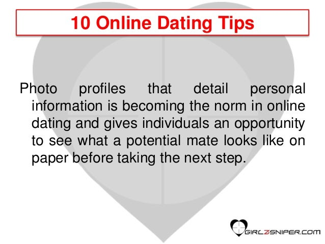 Dating tips online