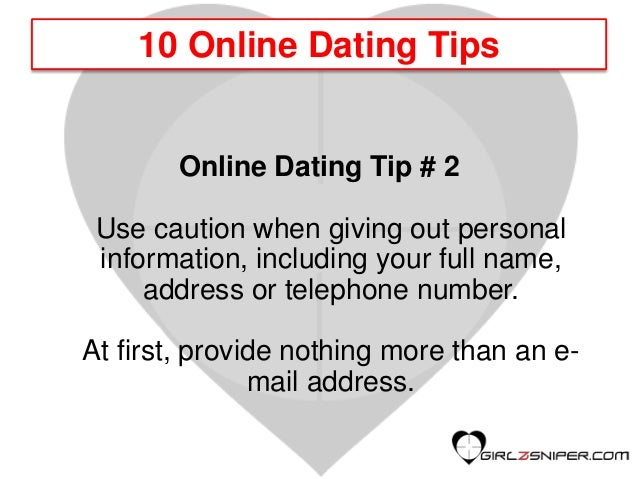 e-mailen online dating tips