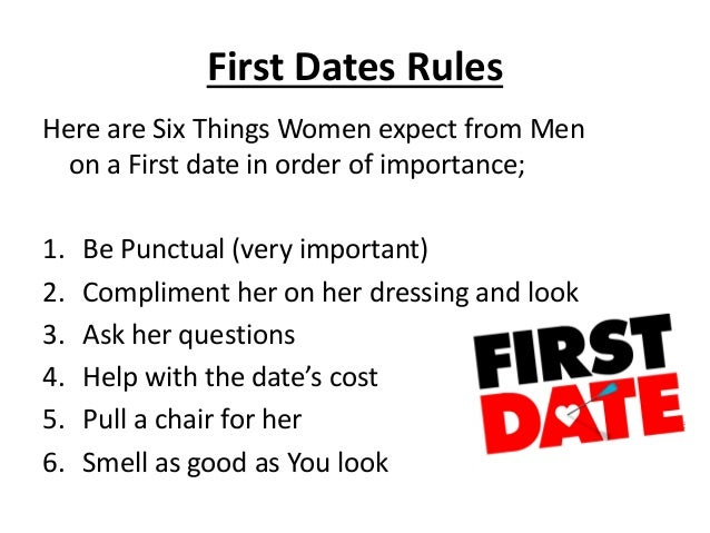 The Rules Of Dating A Man