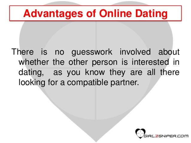 Advantages to online dating
