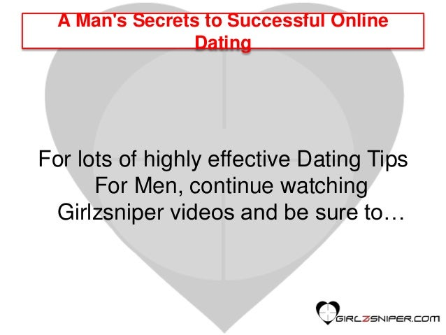 Successful online dating tips for men