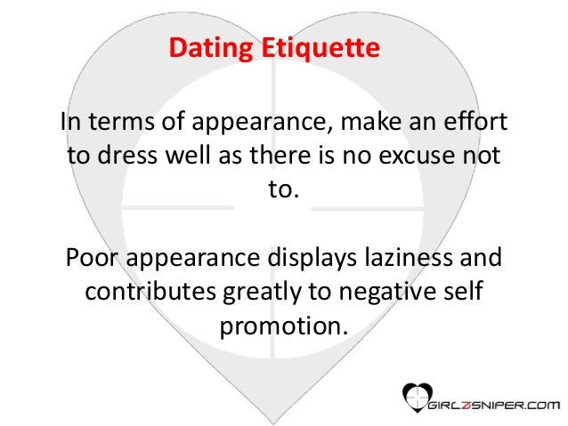 Online dating etiquette for men