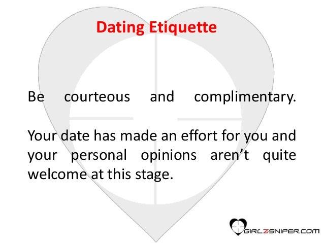 Etiquette of dating men