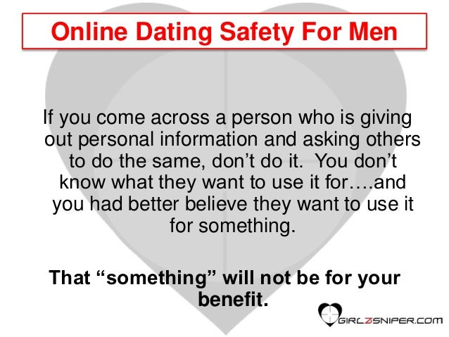 Five tips for dating safely