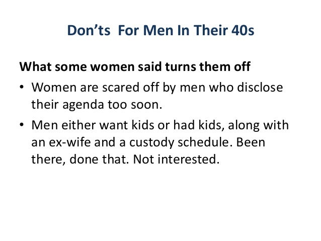 dating tips for men over 40 years