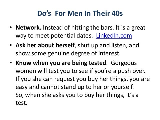 Dating tips for 40 year old man
