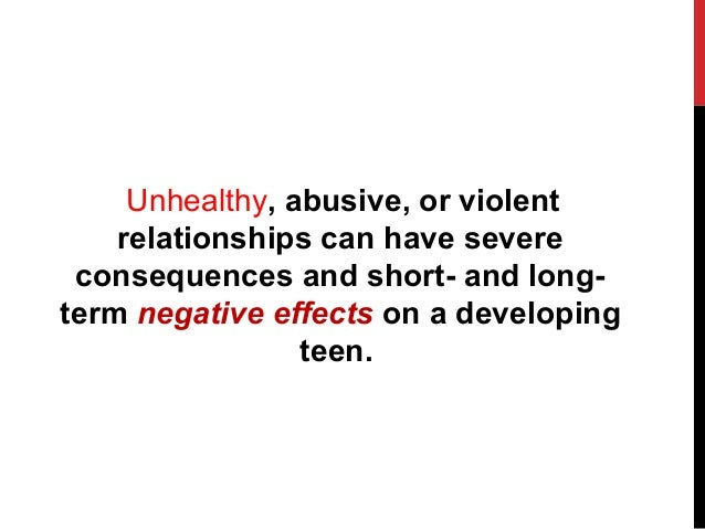 Dating abuse effects