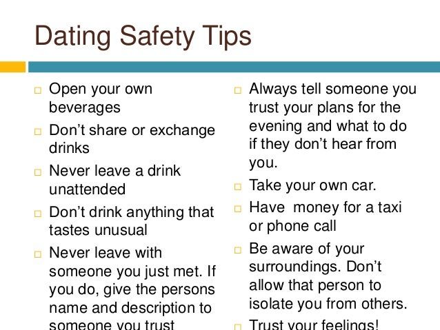 tips for dating safely