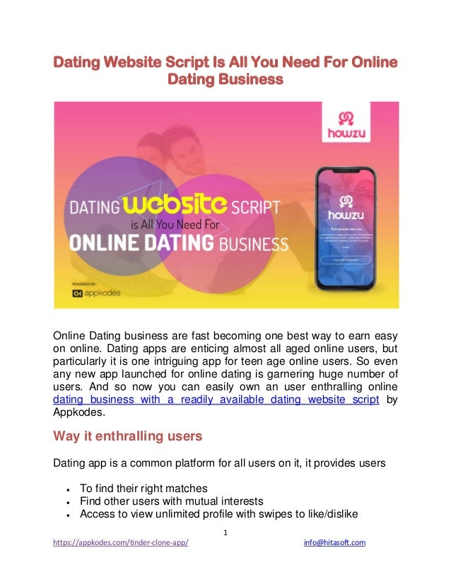 Best dating website script