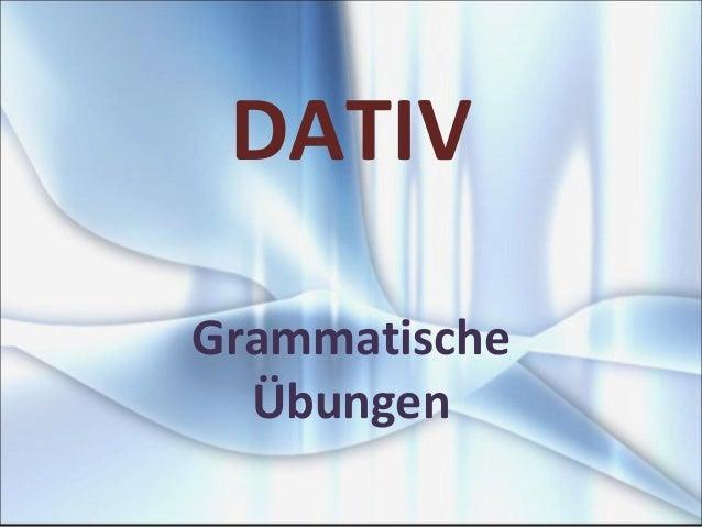 DATIV Grammatische Übungen