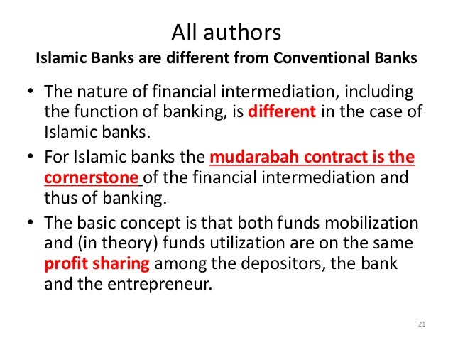 theory and concept of profit in islamic banking Contract for profit-sharing in islamic bank in two different islamic banking theory also spoke of mudarabah as the basis of islamic banking, but his concept.