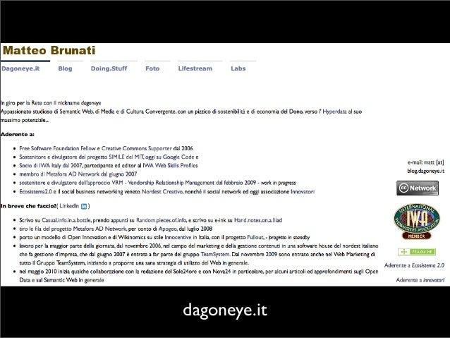 Dato pubblico e dato riutilizzabile - I Lego del Web of Data con Spaghetti Open Data Slide 2