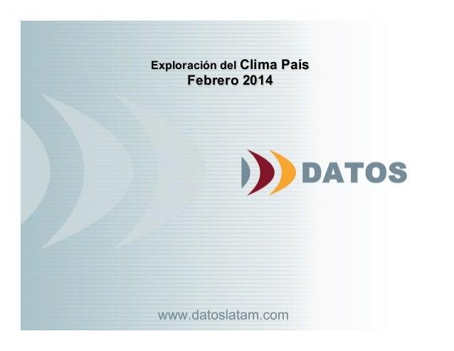 Exploración del Clima País Febrero 2014