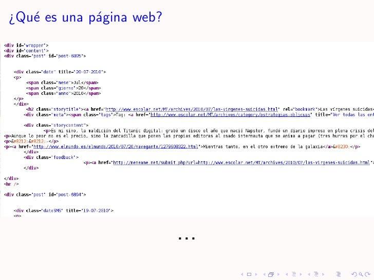 ¿Qu´ es una p´gina web?    e         a                               ...