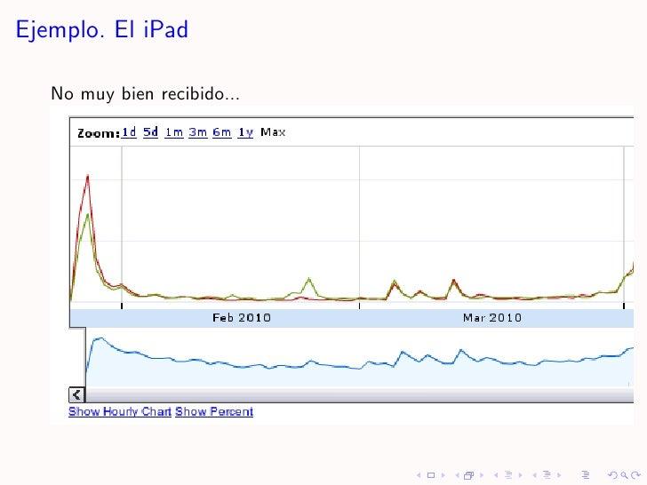 Ejemplo. El iPad     No muy bien recibido...
