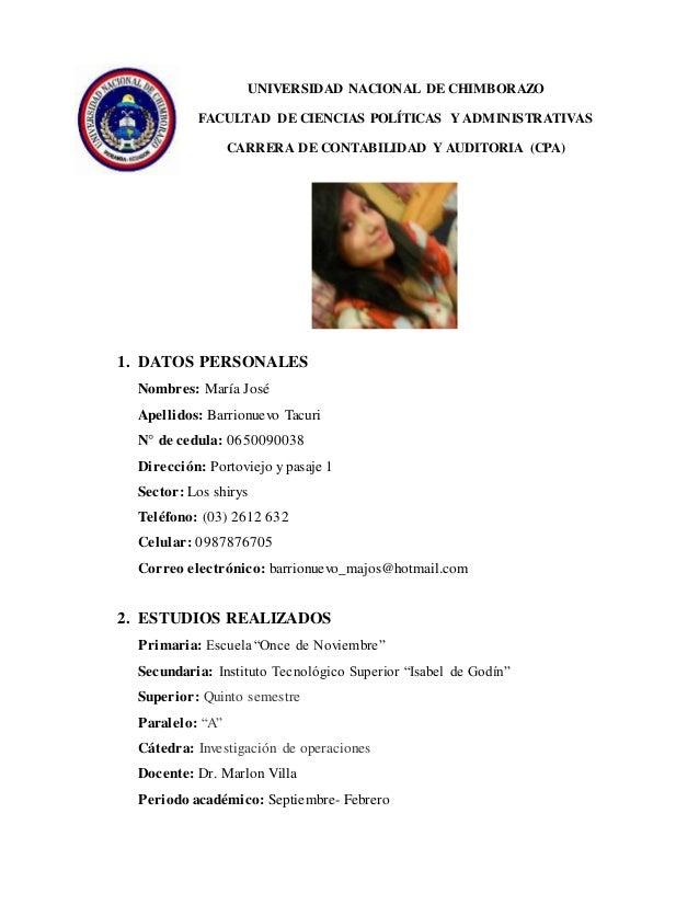 UNIVERSIDAD NACIONAL DE CHIMBORAZO FACULTAD DE CIENCIAS POLÍTICAS Y ADMINISTRATIVAS CARRERA DE CONTABILIDAD Y AUDITORIA (C...