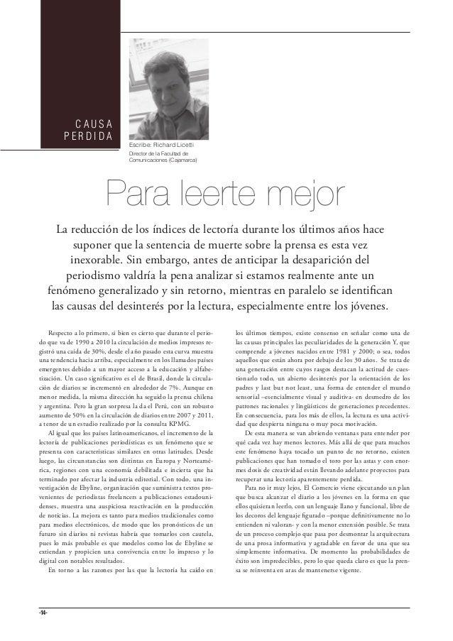 CAUSA         PERDIDA                                  Escribe: Richard Licetti                                  Director ...