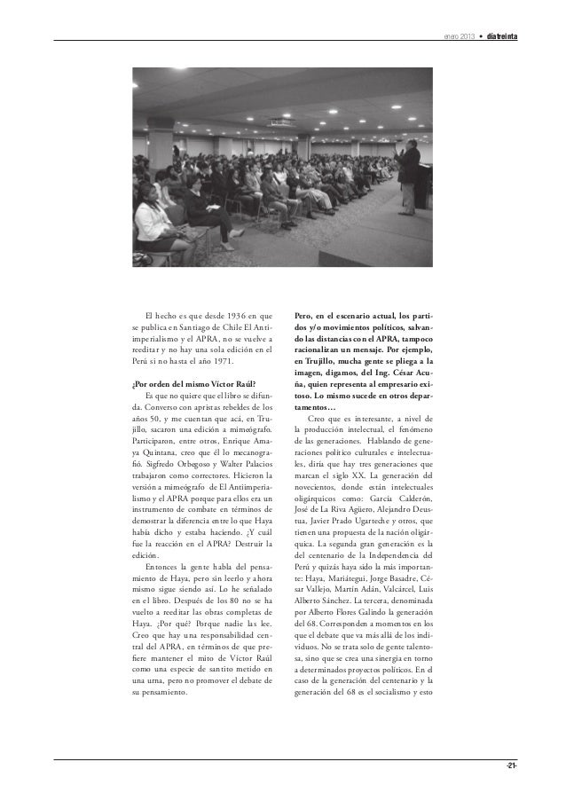 enero 2013 • díatreinta    El hecho es que desde 1936 en que          Pero, en el escenario actual, los parti-se publica e...