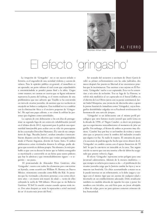 AL FIERRO                                                                       Escribe: Alfieri Díaz             El efect...