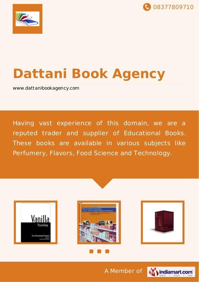 08377809710 A Member of Dattani Book Agency www.dattanibookagency.com Having vast experience of this domain, we are a repu...