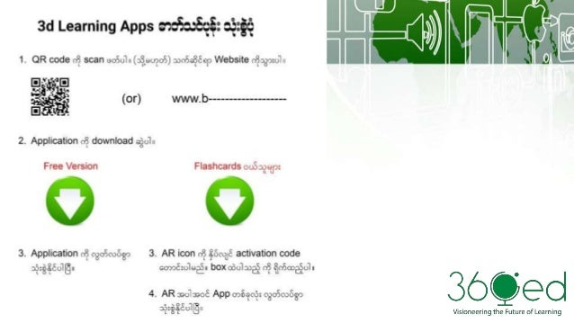 Myanmar's first Augmented Reality Learning Apps & Flashcards