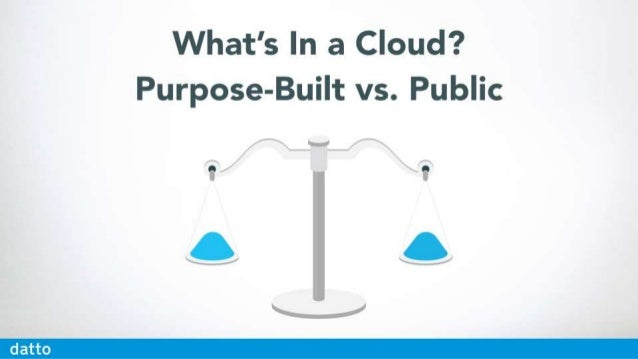 What's In a Cloud?  Purpose-Built vs.  Public  . »/T-_  g____/