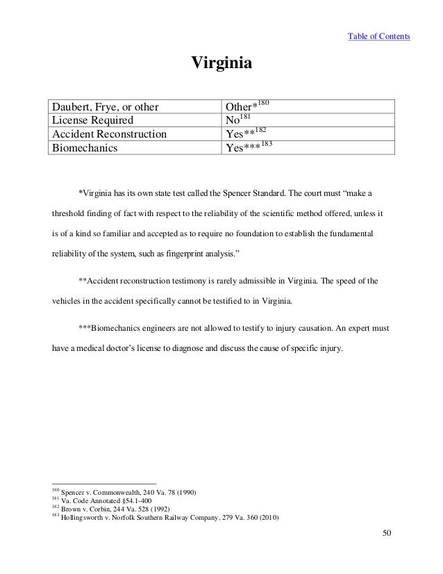 50 state analysis expert witness testimony daubert and frye