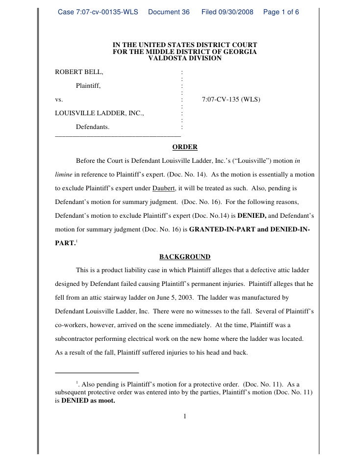 Case 7:07-cv-00135-WLS            Document 36          Filed 09/30/2008       Page 1 of 6                          IN THE ...