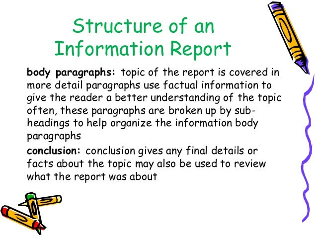 How to write a information report conclusion