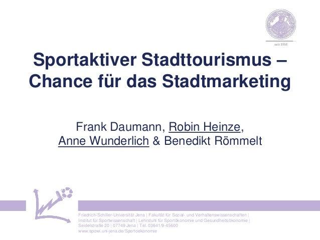 Friedrich-Schiller-Universität Jena | Fakultät für Sozial- und Verhaltenswissenschaften | Institut für Sportwissenschaft |...