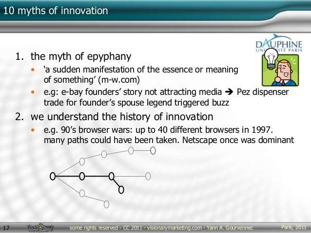 Paris, 2011some rights reserved - CC 2011 - visionarymarketing.com - Yann A. Gourvennec17 10 myths of innovation 1. the my...