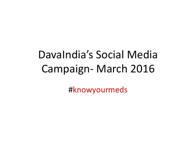 DavaIndia's Social Media Campaign- March 2016 #knowyourmeds