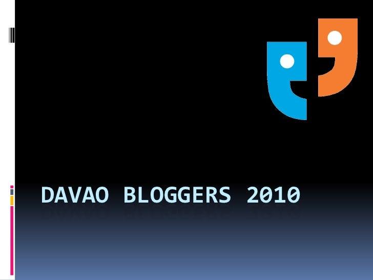 Davao bloggers 2010<br />
