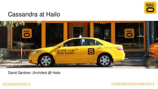 #CASSANDRA13Cassandra at HailoDavid Gardner | Architect @ HailoCASSANDRASUMMIT2013