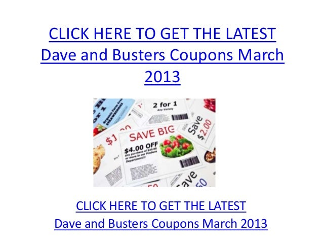 picture relating to Dave and Busters Printable Coupons named Dave And Busters Printable Discount coupons March 2013 - Dave And