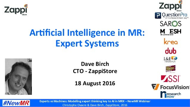 Experts	   vs	   Machines:	   Modelling	   expert	   thinking	   key	   to	   AI	   in	   MRX	   –	   NewMR	   Webinar	   ...