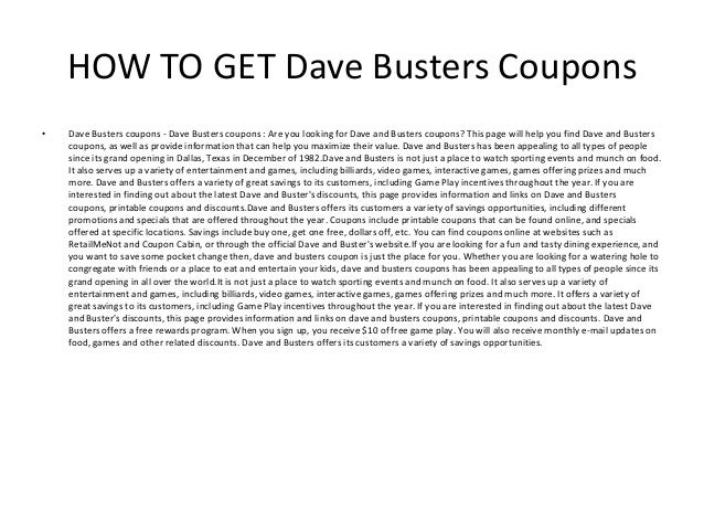 photograph about Dave and Busters Coupons Printable referred to as Dave Busters coupon codes - Printable Dave Busters coupon codes