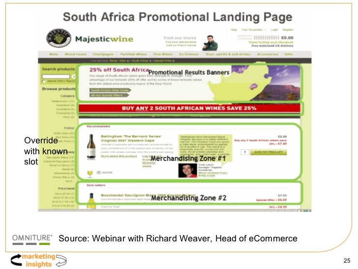 Override with known slot Source: Webinar with Richard Weaver, Head of eCommerce