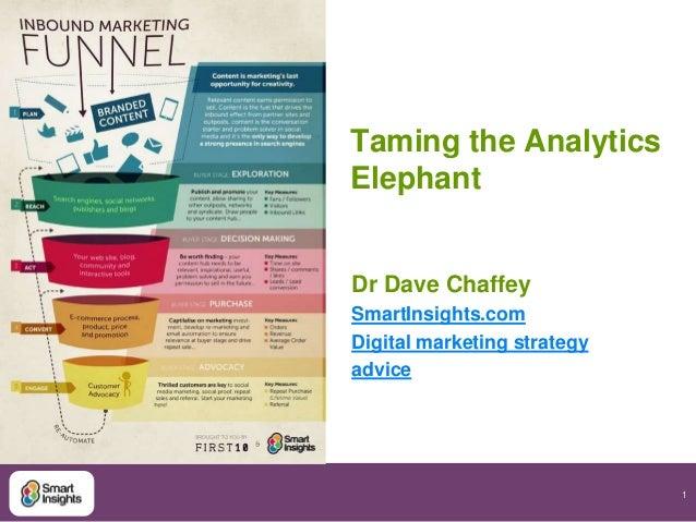 Taming the Analytics Elephant  Dr Dave Chaffey SmartInsights.com Digital marketing strategy advice  1